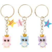 Claire's Best Friends Owl Keyrings - 3 Pack - Keyrings Gifts