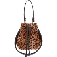 Claire's Faux Fur Leopard Bucket Crossbody Bag - Bag Gifts