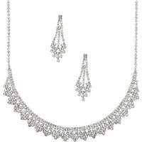 Claire's Silver Rhinestone Peacock Jewelry Set - 2 Pack - Peacock Gifts