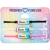 Claire's Rainbow Adjustable Sister Bracelets - 3 Pack - Sister Gifts
