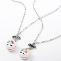 Claire's Best Friends Unicorn Macaron Pendant Necklaces - 2 Pack - Necklaces Gifts