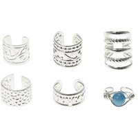 Claire's 6 Pack Silver & Turquoise Ear Cuffs - Turquoise Gifts