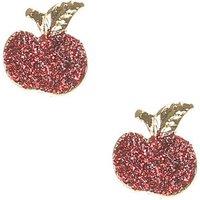 Claire's Glitter Apple Stud Earrings - Apple Gifts