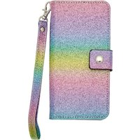 Claire's Rainbow Glitter Folio Phone Case - Phone Gifts