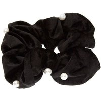 Claire's Velvet Pearl Hair Scrunchie - Black - Pearl Gifts