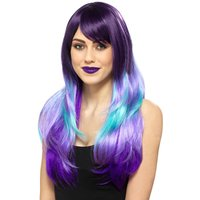 Claire's Purple & Turquoise Wig - Turquoise Gifts