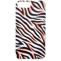 Claire's Neon Coral Zebra Phone Case - Fits Iphone 6/7/8 Plus - Zebra Gifts