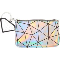 Claire's Holographic Geometric Mirror Coin Purse - Silver - Mirror Gifts