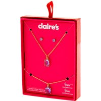 Claire's June Birthstone Jewelry Gift Set - Light Amethyst, 3 Pack - Birthstone Gifts