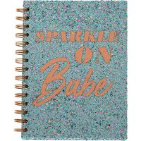 Claire's Sparkle On Babe Glitter Notebook - Blue - Notebook Gifts
