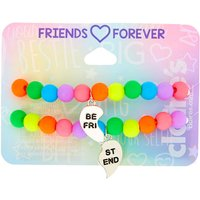 Claire's Rainbow Bead Stretch Friendship Bracelets - 2 Pack - Friendship Gifts