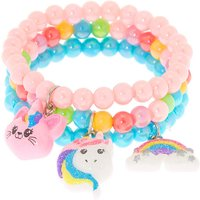 Claire's Club Rainbow Beaded Stretch Bracelets - 3 Pack - Rainbow Gifts