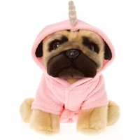 Claire's Doug The Pug Large Unicorn Soft Toy - Cream - Soft Toy Gifts