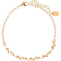 Claire's Gold Crystal Leaf Chain Anklet - Gold Gifts