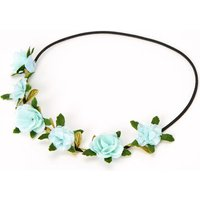 Claire's Leaves & Roses Flower Crown Headwrap - Mint - Mint Gifts