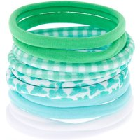 Claire's Butterfly Print Hair Ties - Green, 10 Pack - Ties Gifts