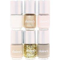 Claire's 6 Pack Nude Nail Polish - Nail Polish Gifts