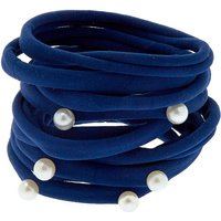 Claire's Pearl Beads Hair Ties - Navy, 10 Pack - Ties Gifts