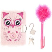 Claire's Kids Furry Pink Own Notepad With Pen - Pen Gifts