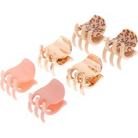 Claire's Leopard Print Mini Hair Claws - 6 Pack - Leopard Print Gifts