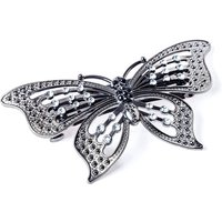 Claire's Hematite Butterfly Bling Hair Barrette - Bling Gifts