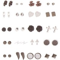 Claire's Gothic Romance Stud Earrings Set Of 20 - Romance Gifts