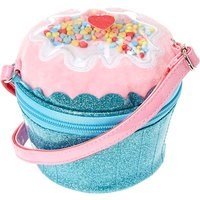 Claire's Club Glitter Cupcake Crossbody Bag - Blue - Cupcake Gifts