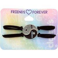 Claire's Yin & Yang Stretch Friendship Bracelets - Black, 2 Pack - Friendship Gifts
