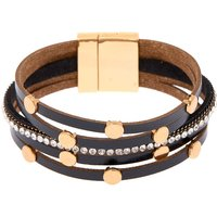 Claire's Gold Layered Statement Bracelet - Black - Fashion Gifts