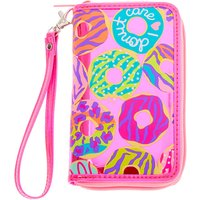 Claire's Neon Animal Donut Print Wristlet - Pink - Animal Gifts