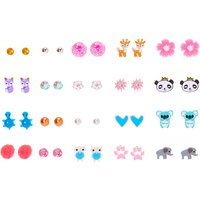 Claire's Animal Mix Stud Earrings - 20 Pack - Animal Gifts