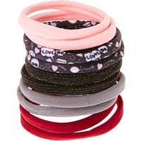 Claire's Burgundy Love Rolled Hair Bobbles - Ties Gifts