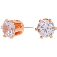Claire's 18Kt Rose Gold Plated Cubic Zirconia 5MM Round Stud Earrings - Jewellery Gifts