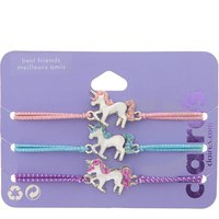 Claire's Pastel Unicorn Stretch Friendship Bracelets - 3 Pack - Friendship Gifts