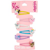 Claire's Club Animal Snap Hair Clips - 6 Pack - Animal Gifts