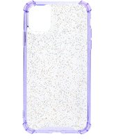Claire's Clear Lavender Glitter Protective Phone Case - Fits Iphone 11 - Lavender Gifts