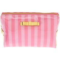Claire's Striped Makeup Bag - Pink - Makeup Gifts