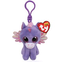 Claire's Ty Beanie Boo Athena The Pegasus Keyring Clip - Keyring Gifts