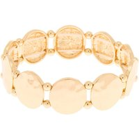 Claire's Gold Hammered Circle Stretch Bracelet - Gold Gifts