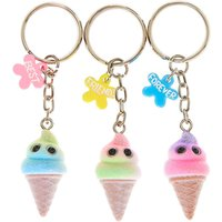 Claire's Best Friends Forever Ice Cream Keyrings - 3 Pack - Ice Cream Gifts