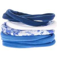 Claire's Cloudy Rolled Hair Ties - Blue - Ties Gifts