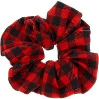 Claire's Medium Buffalo Check Hair Scrunchie - Red - Hair Gifts