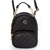 Claire's Faux Leather Quilted Mini Backpack Crossbody Bag - Black - Backpack Gifts