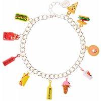 Claire's Junk Food Silver Tone Charm Bracelet - Charm Bracelet Gifts
