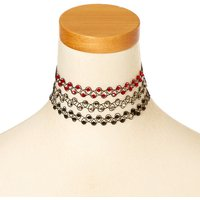 Claire's Beaded Tattoo Choker Necklaces - 3 Pack - Necklaces Gifts