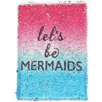 Claire's Reversible Sequins Let's Be Mermaids Notebook - Blue - Notebook Gifts