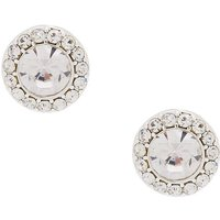 Claire's Silver 15MM Halo Crystal Stud Earrings - Silver Gifts
