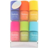Claire's Mini Matte Neon Nail Polish - 6 Pack - Nail Gifts