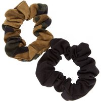 Claire's Black & Camo Hair Scrunchies - Camo Gifts