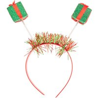 Claire's Christmas Presents Deely Bopper Headband- Red And Green - Presents Gifts